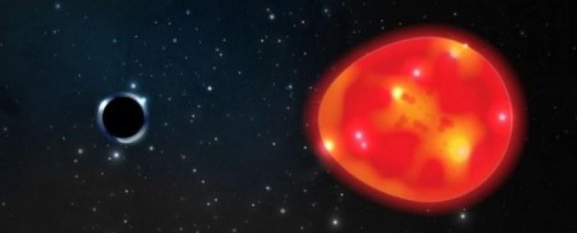 Wizja artystyczna czarnej dziury w gwiazdozbiorze Jednorożca /materiały prasowe