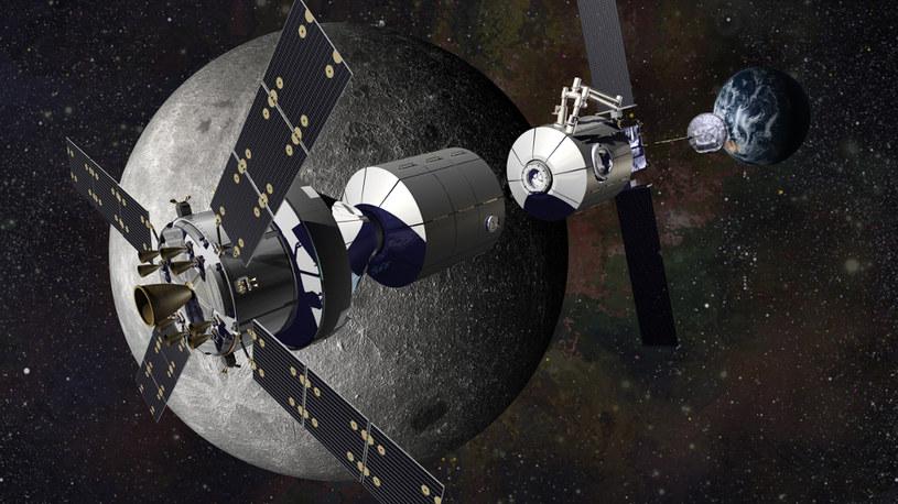 Wizja artystyczna Deep Space Gateway /NASA