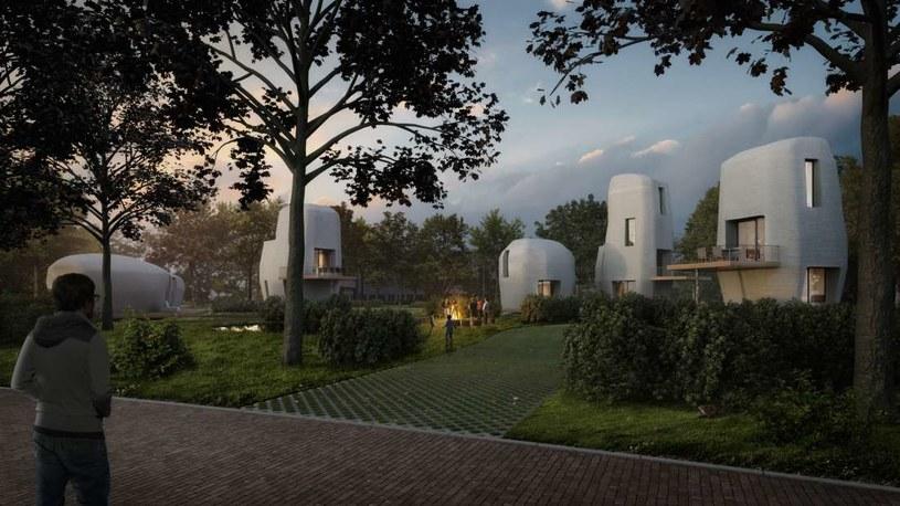 Wizja artystyczna domu z drukarki 3D w Eindhoven /Fot. Project Milestone /materiały prasowe