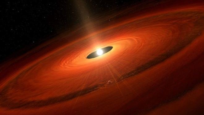 Wizja artystyczna gwiazdy TW Hydrae /NASA