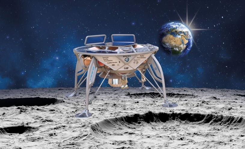 Wizja artystyczna izraelskiej sondy, która ma wylądować na Księżycu /materiały prasowe