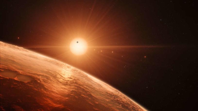 Wizja artystyczna jednej z planet w układzie TRAPPIST-1 /NASA