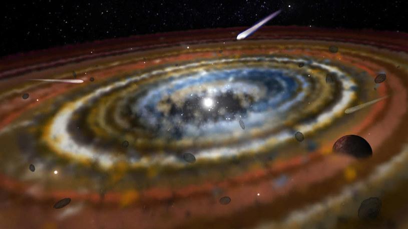 Wizja artystyczna komet w innym układzie gwiezdnym /materiały prasowe