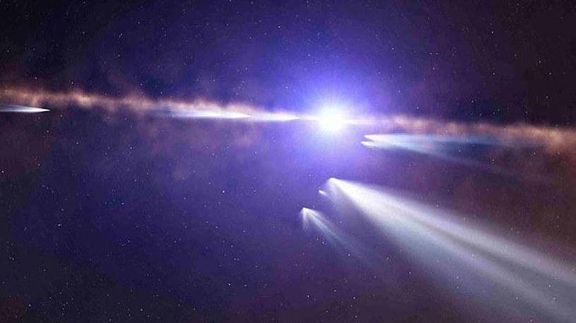 Wizja artystyczna komety krążącej wokół Beta Pictoris /materiały prasowe