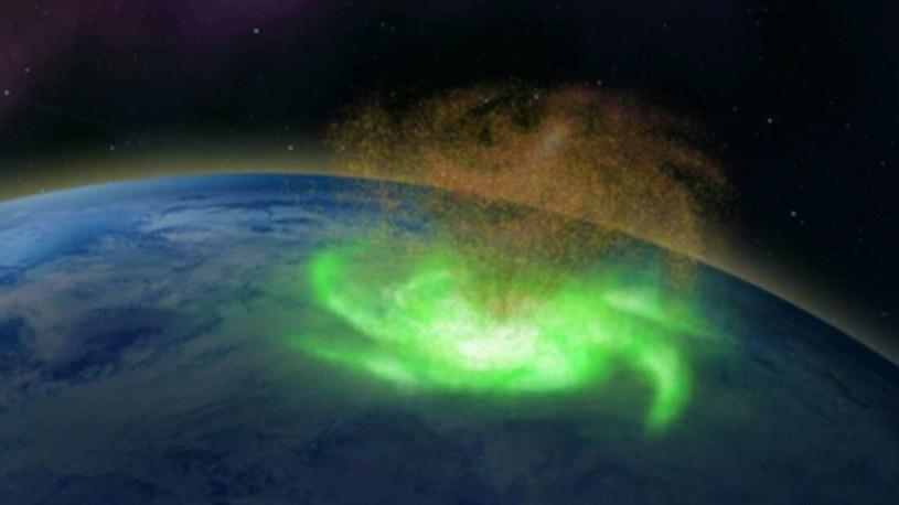 Wizja artystyczna kosmicznego huraganu /materiały prasowe