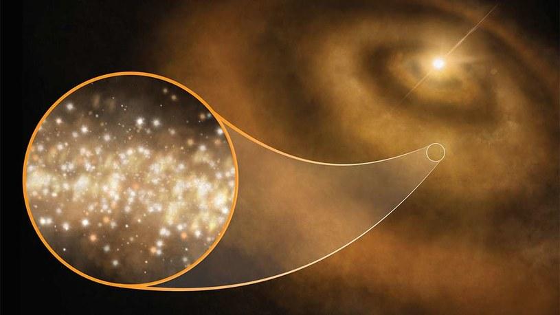 Wizja artystyczna nanodiamentów emitujących mikrofale /materiały prasowe