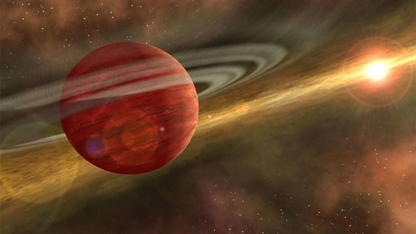 Wizja artystyczna nowo odkrytej planety /materiały prasowe
