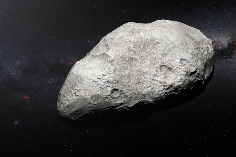 Wizja artystyczna planetoidy 2004 EW95 /materiały prasowe