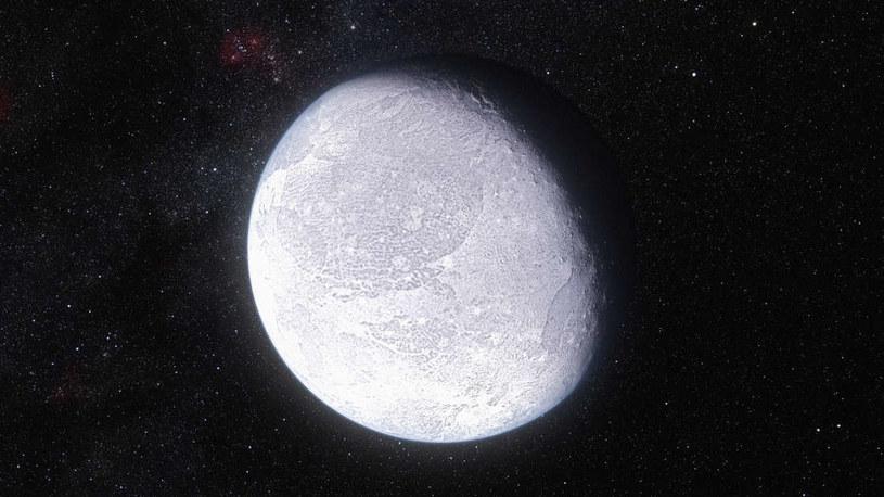 Wizja artystyczna planety karłowatej Eris /materiały prasowe