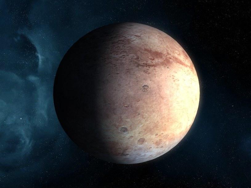Wizja artystyczna planety karłowatej z zewnętrznego Układu Słonecznego /materiały prasowe