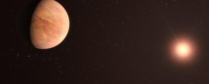 Wizja artystyczna planety L 98-59 b /materiały prasowe