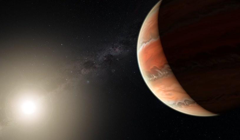 Wizja artystyczna planety WASP-19b /materiały prasowe