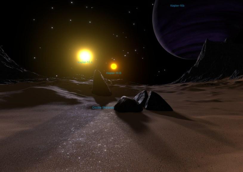 Wizja artystyczna powierzchni planety Kepler-16b /NASA