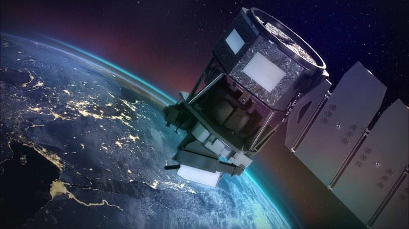 Wizja artystyczna satelity ICON na orbicie /NASA