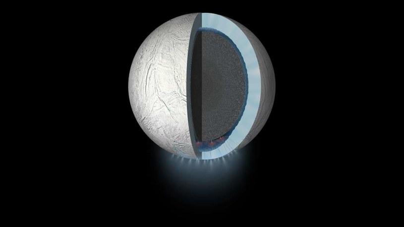 Wizja artystyczna struktury Enceladusa /materiały prasowe