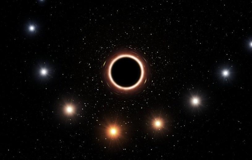 Wizja artystyczna trajektorii gwiazdy S2 w momencie, gdy przechodziła bardzo blisko supermasywnej czarnej dziury w centrum Drogi Mlecznej /materiały prasowe
