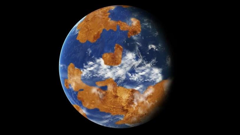 Wizja artystyczna Wenus pokrytej wodą /materiały prasowe