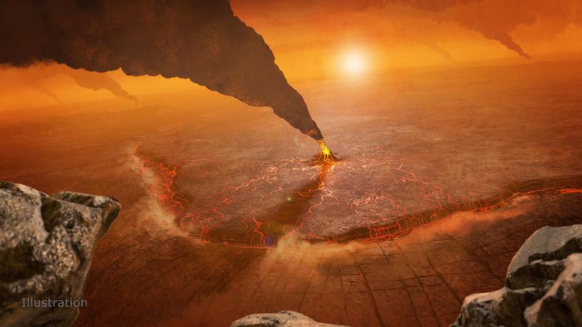 Wizja artystyczna wulkanu na Wenus - zbada je misja VERITAS /NASA