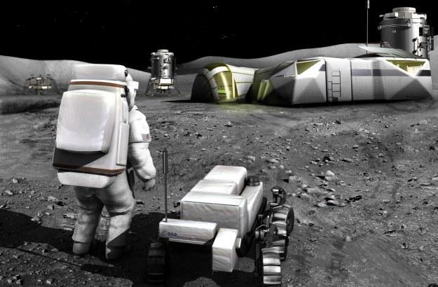 Wizja bazy księżycowej.   Fot. ESA /materiały prasowe