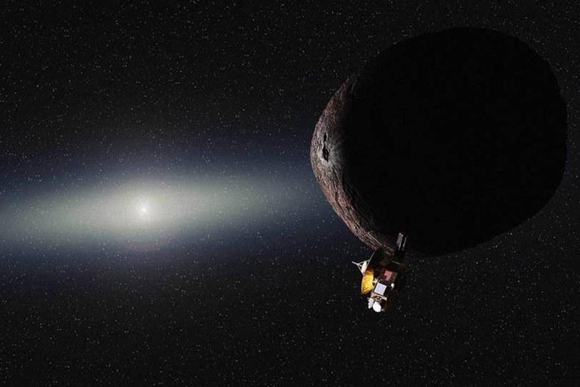 Wizja przelotu sondy New Horizons obok PT1 (2014 MU69) /NASA