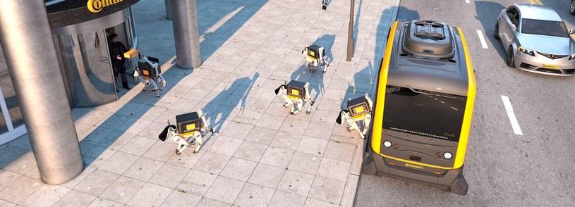 Wizja robotycznych kurierów przyszłości /materiały prasowe