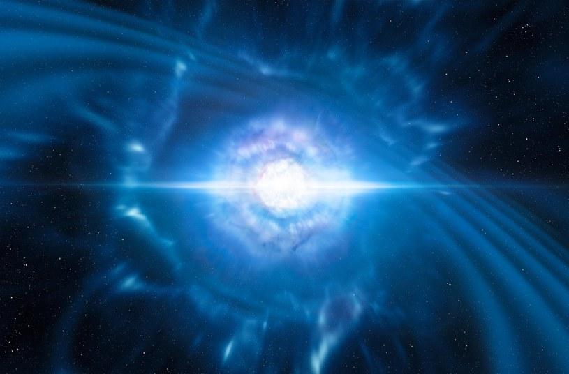 Wizja zderzenia dwóch gwiazd neutronowych /materiały prasowe