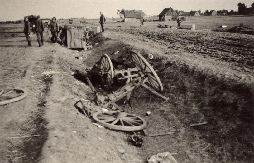 Wizna. Zdjęcie z września 1939 roku /reprodukcja /Agencja FORUM