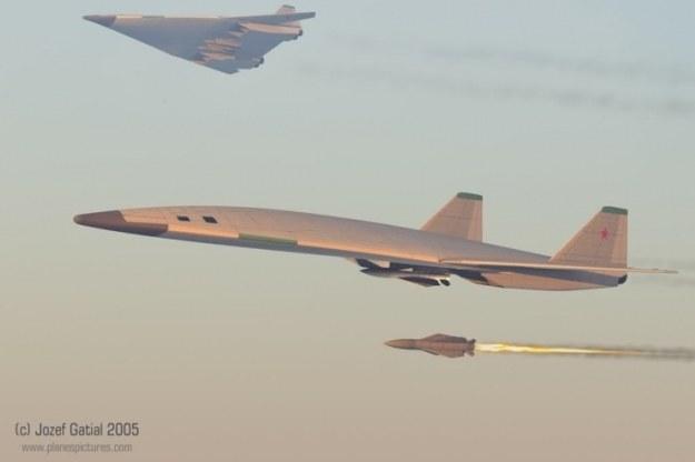 Wizualizacja bombowca PAK-DA. Fot. Josef Gatial via secretprojects.co.uk /materiały prasowe