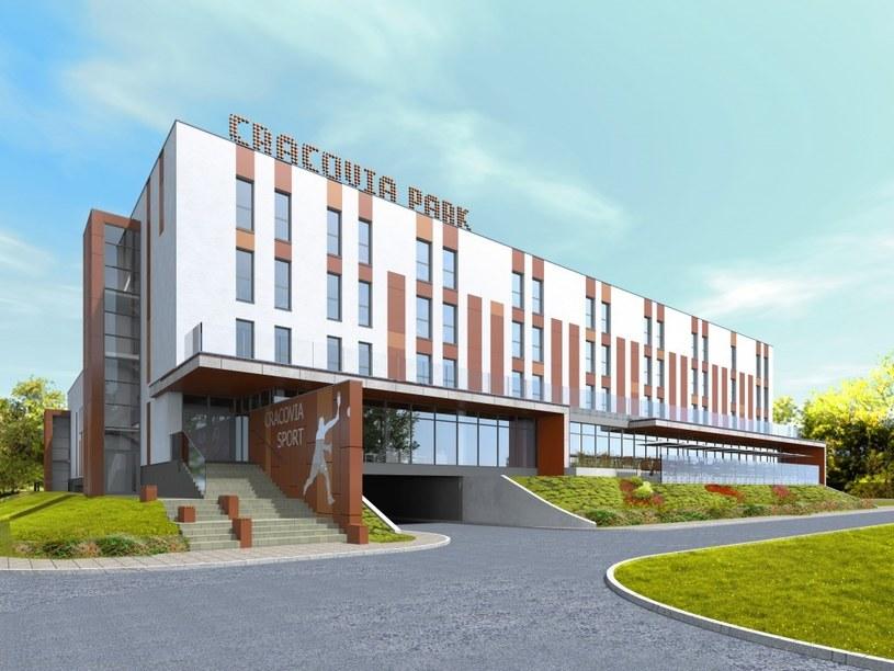 Wizualizacja budynku sportowo-hotelowego Cracovii /www.cracovia.pl