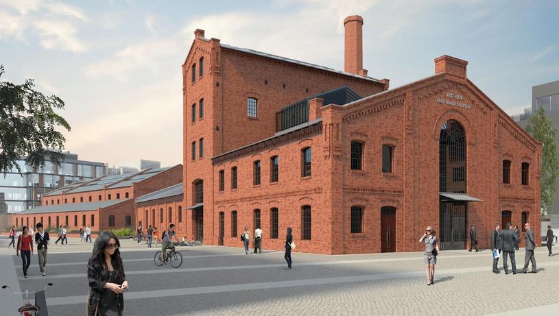 Wizualizacja budynku, w którym mieścić będzie się Muzeum Polskiej Wódki /PAP