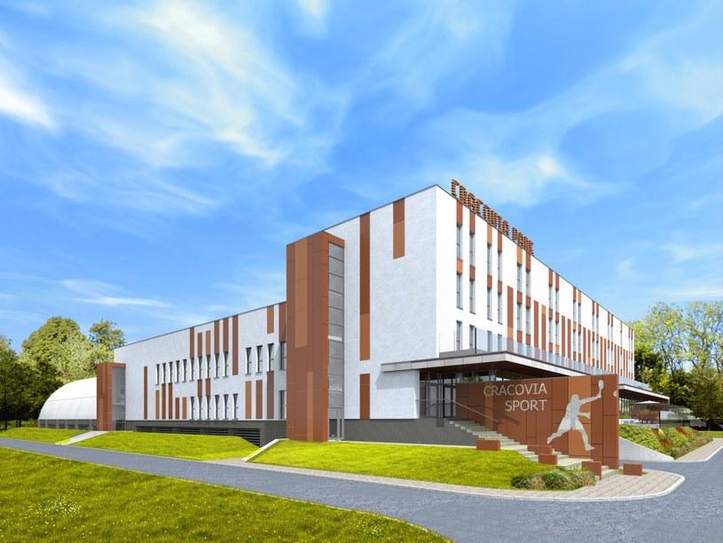 Wizualizacja centrum sportowo-rekreacyjnego Cracovii /informacja prasowa /
