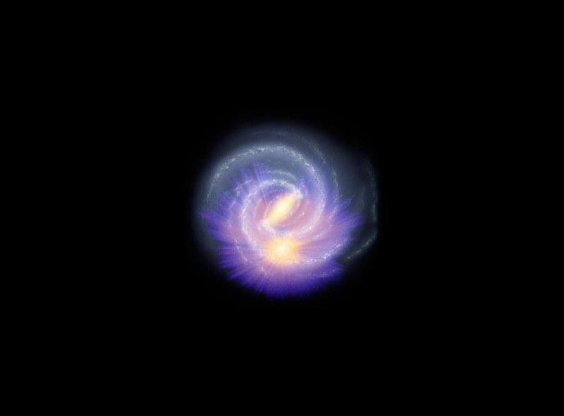 Wizualizacja Drogi Mlecznej z nałożonym obrazem z danych z sondy Gaia /materiały prasowe