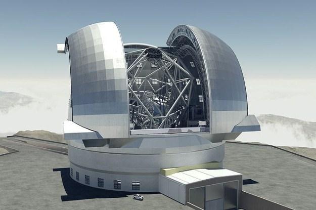 Wizualizacja  E-ELT (42 metrowego teleskopu) /Informacja prasowa