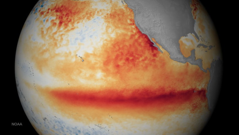 Wizualizacja globalnego ocieplenia przygotowana przez NOAA (National Oceanic and Atmospheric Administration) /materiały prasowe