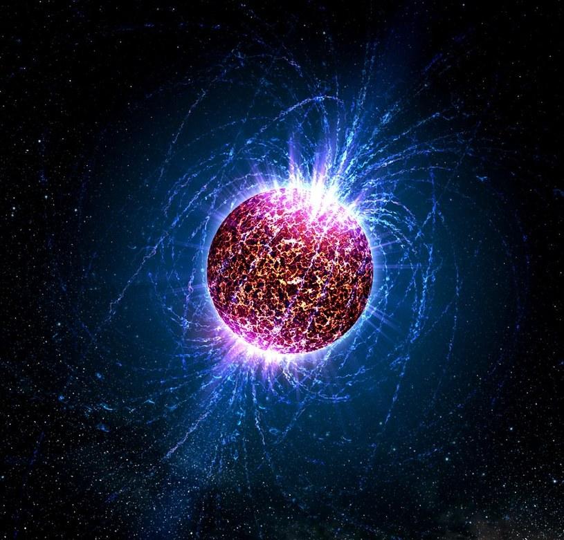 Wizualizacja gwiazdy neutronowej /materiały prasowe