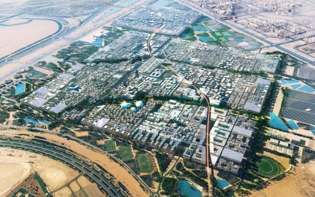 Wizualizacja miasta     Fot. Foster + Partners /materiały prasowe