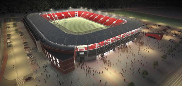 Wizualizacja nowego stadionu / fot. http://www.uml.lodz.pl /INTERIA.PL