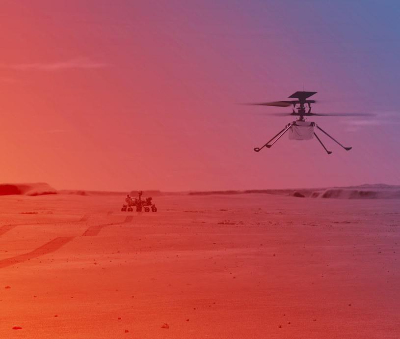 Wizualizacja pierwszego lotu helikoptera Ingenuity /NASA