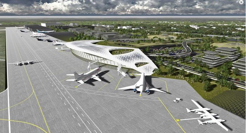 Wizualizacja portu kosmicznego w Houston, Źródło: Houston Public Media /materiały prasowe
