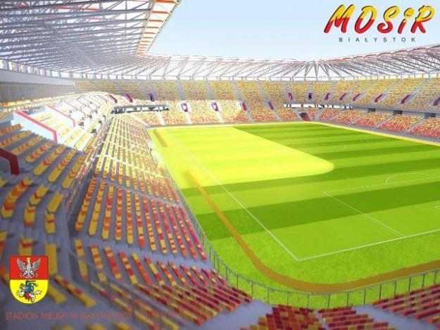 Wizualizacja projektu stadionu w Białymstoku. Źródło: Jagiellonia /