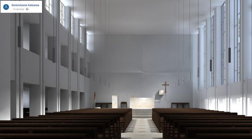 Wizualizacja remontu  kościoła w Katowicach /Dominikanie Katowice /facebook.com