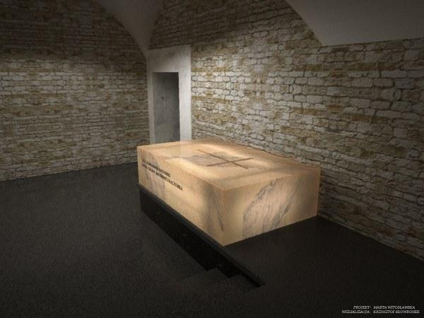 Wizualizacja sarkofagu pary prezydenckiej /materiały prasowe