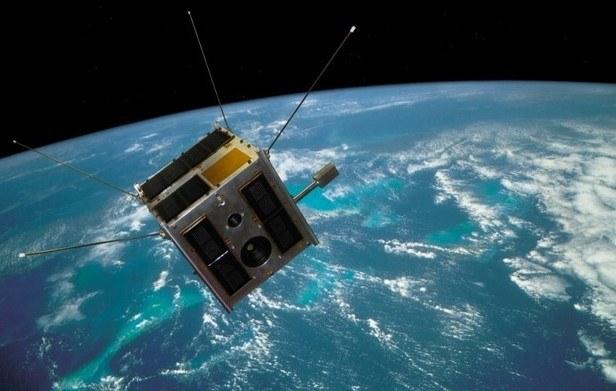 Wizualizacja satelity BRITE-PL Heweliusz na orbicie / Credits: CAMK, CBK /materiały prasowe