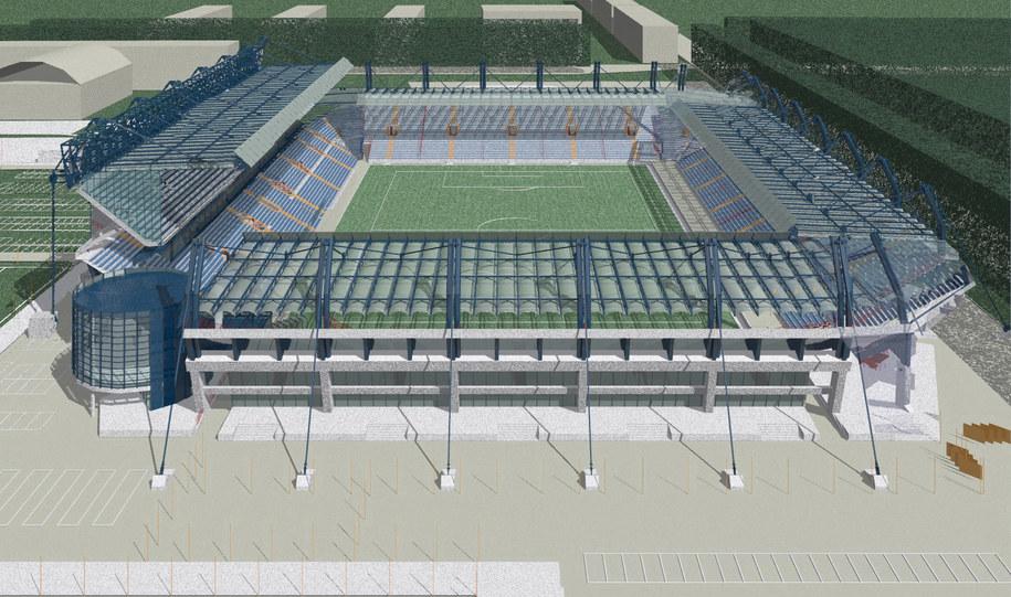 Wizualizacja stadionu Wisły Kraków  /Fot. Biuro prasowe Euro 2012