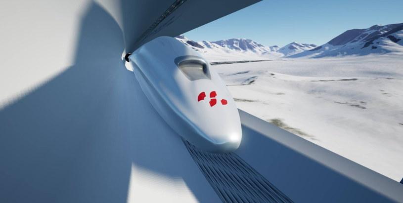 Wizualizacja szwajcarskiego Hyperloopa. Fot. Distributed Electrical Systems Laboratory (DESL), /materiały prasowe