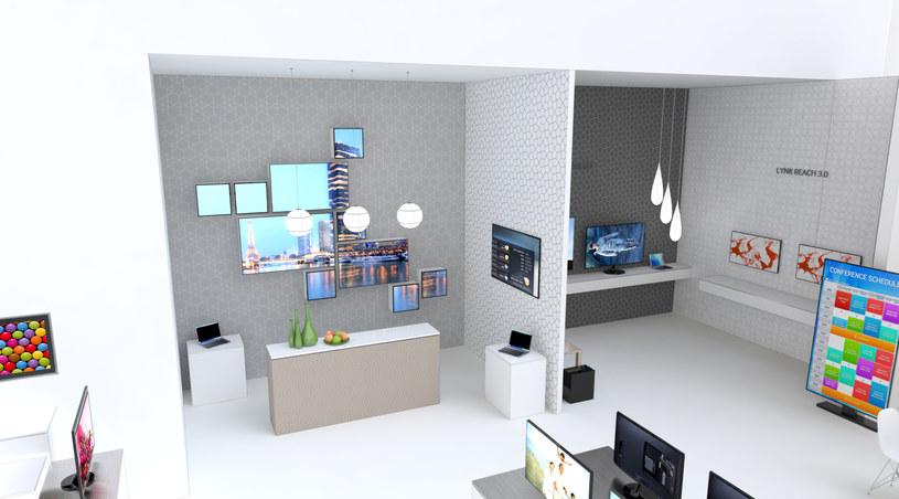 Wizualizacja - tak może wyglądać stoisko targowe Samsunga na CES 2014 /materiały prasowe