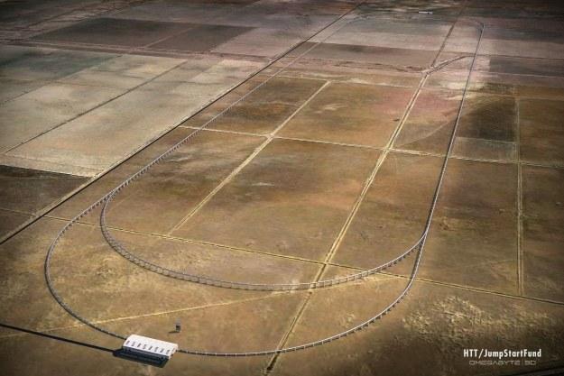 Wizualizacja testowego toru. Fot. Hyperloop Transportation Technologies /materiały prasowe