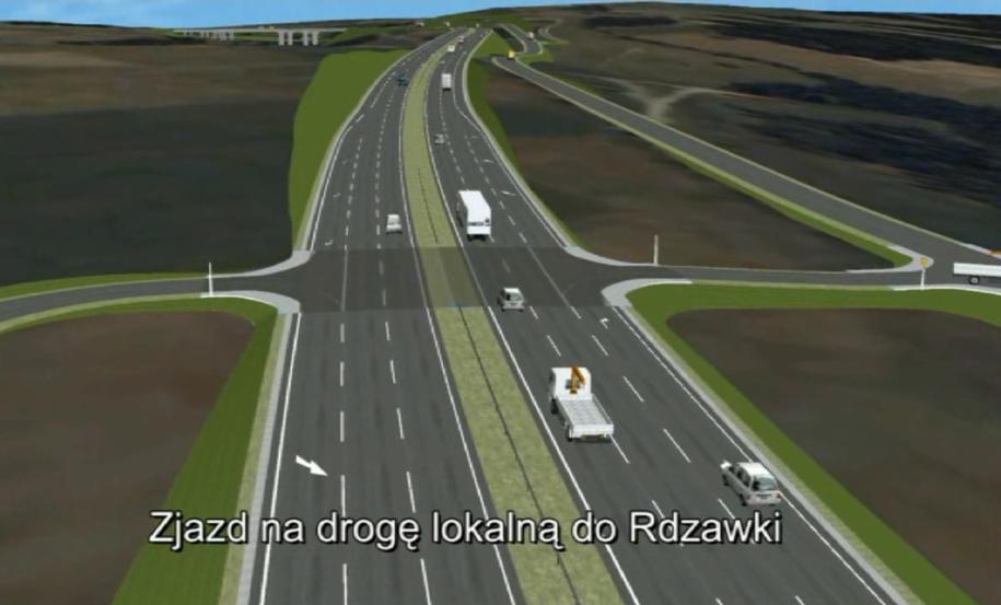 Wizualizacja trasy /fot. GDDKiA /Materiały prasowe