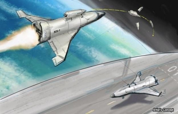 Wizualizacja XS-1 /DARPA