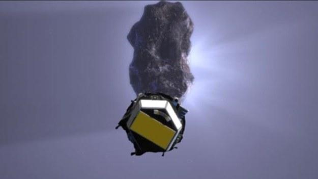 Wizualizacja zbliżenia sondy Deep Impact do komety Tempel 1 /NASA